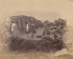 General view of the ruins of the temple known as Kamkandala's Palace, Bilhari, Jabalpur District